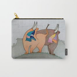 Toritos II Original drawing pencil colors Carry-All Pouch
