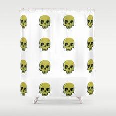 Skull In Gold Shower Curtain