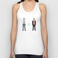 tyler durden Tank Tops featuring F. C. - Narrator and Tyler Durden by V.L4B
