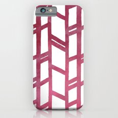 Maroon skyscraper pattern iPhone 6s Slim Case