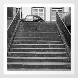 Stairs black and white Art Print