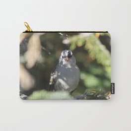 White-crowned Sparrow Portrait Carry-All Pouch