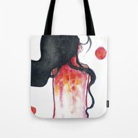 water color Tote Bags featuring Water color by Kohaku+Disorder