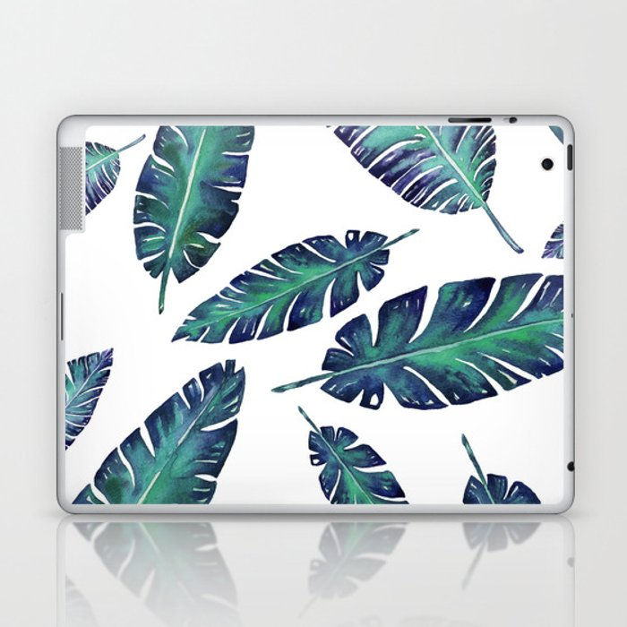 Watercolor garden leaves Laptop & iPad Skin