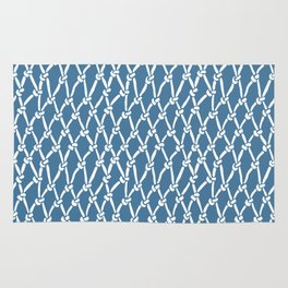 Fishing Net Blue Rug