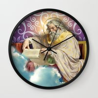 posters Wall Clocks featuring Inspirational Posters/Cards by Regina Caeli Art