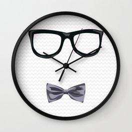 Hipster Bowtie Wall Clock
