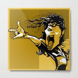 Super star yellow Metal Print