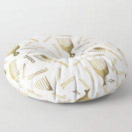 Good Hair Day – Gold Palette Floor Pillow