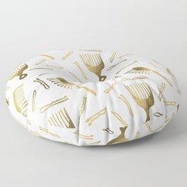 Good Hair Day – Gold Palette Floor Pillow