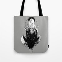 goddess Tote Bags featuring Goddess by alesaenzart