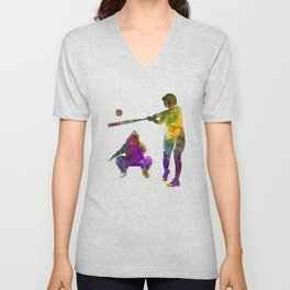 baseball players 02 Unisex V-Neck