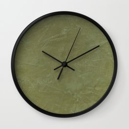 Italian Style Tuscan Olive Green Stucco - Luxury - Neutral Colors - Home Decor - Corbin Henry Wall Clock