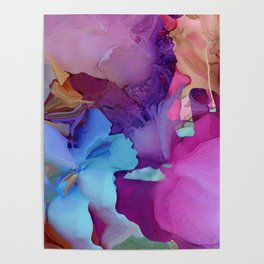 Alcohol Ink Flowers Poster