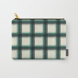 plaid-pine green Carry-All Pouch