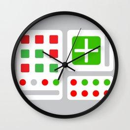 Alpha One Rocket Base Wall Clock
