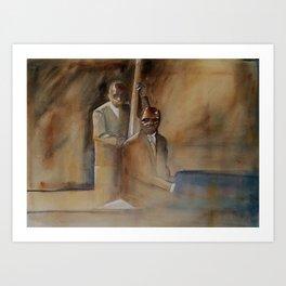 Musician Series I: Jazz Bass Walk Keyboard Run Art Print