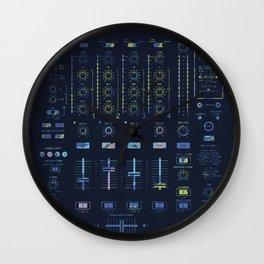 DJ Mixer Wall Clock