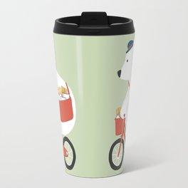 Polar bear postal express Travel Mug