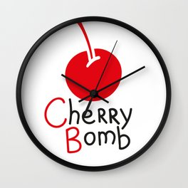 Cherry Bomb Wall Clock