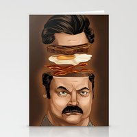 swanson Stationery Cards featuring Ron Swanson by Dave Collinson