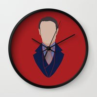 hannibal Wall Clocks featuring Hannibal by Alice Wieckowska