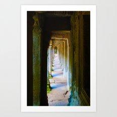 Corridor Angkor Wat Art Print