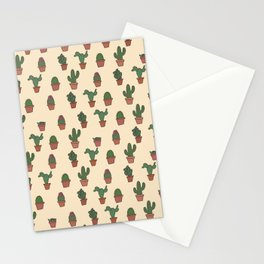 Cute Cactus Pattern Stationery Cards