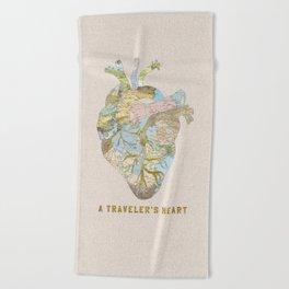 A Traveler's Heart Beach Towel