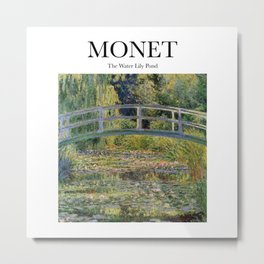 Monet - The Water Lily Pond Metal Print