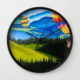 Acrylic Hot Air Balloons Wall Clock