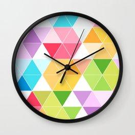 Colorful Triangle Mosaic Wall Clock
