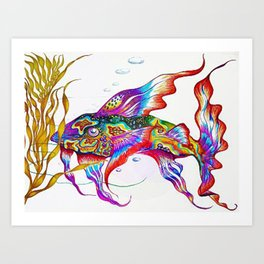 Punky Bruster Goby Art Print