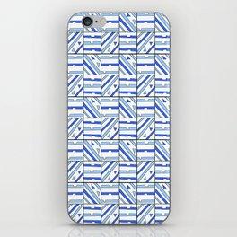 symetric tartan and gingham 14 -vichy, gingham,strip,square,geometric, sober,tartan iPhone Skin