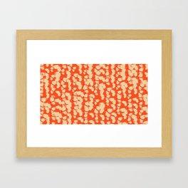 Butterflies Orange Framed Art Print