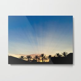 Sunset in Southern California Metal Print
