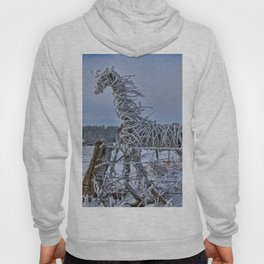The Fence Becomes The Horse Hoody
