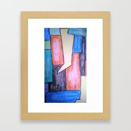 Lines of Control Framed Art Print