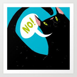 "Mr. Meow ""no"" Cat Art Print"