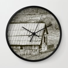 Weathered Barn Wall Clock