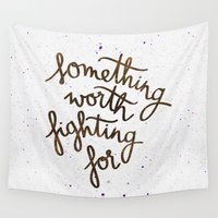 snape Wall Tapestries featuring Something worth fighting for by Earthlightened