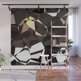 Geometic Greys Wall Mural
