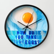Over Easy Wall Clock