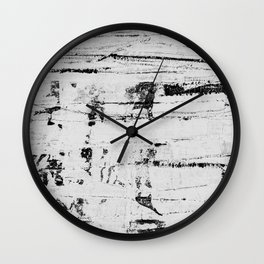 Distressed Grunge 102 in B&W INVERSE Wall Clock