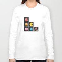 pac man Long Sleeve T-shirts featuring pac man by pixel.pwn | AK