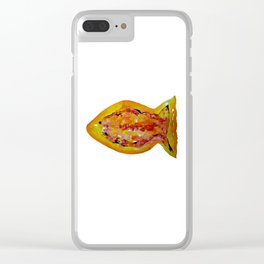 Watercolor Fish I Clear iPhone Case