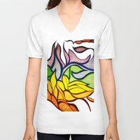 waves V-neck T-shirts featuring Waves by Aaron Carberry