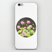 lotus flower iPhone & iPod Skins featuring Lotus by Carla Adol
