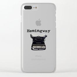 Hemingway Clear iPhone Case