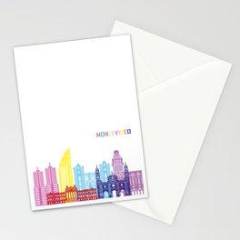 montevideo skyline pop Stationery Cards